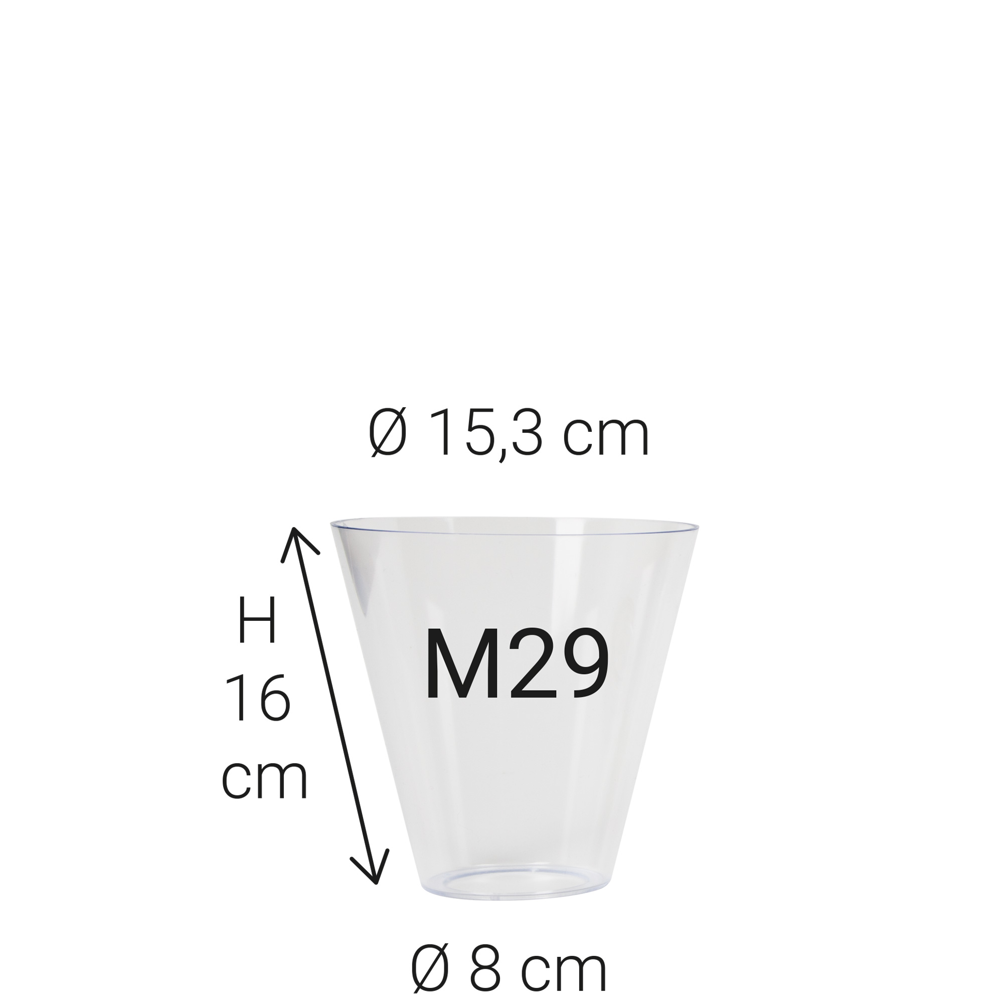 Kunststof glas M29