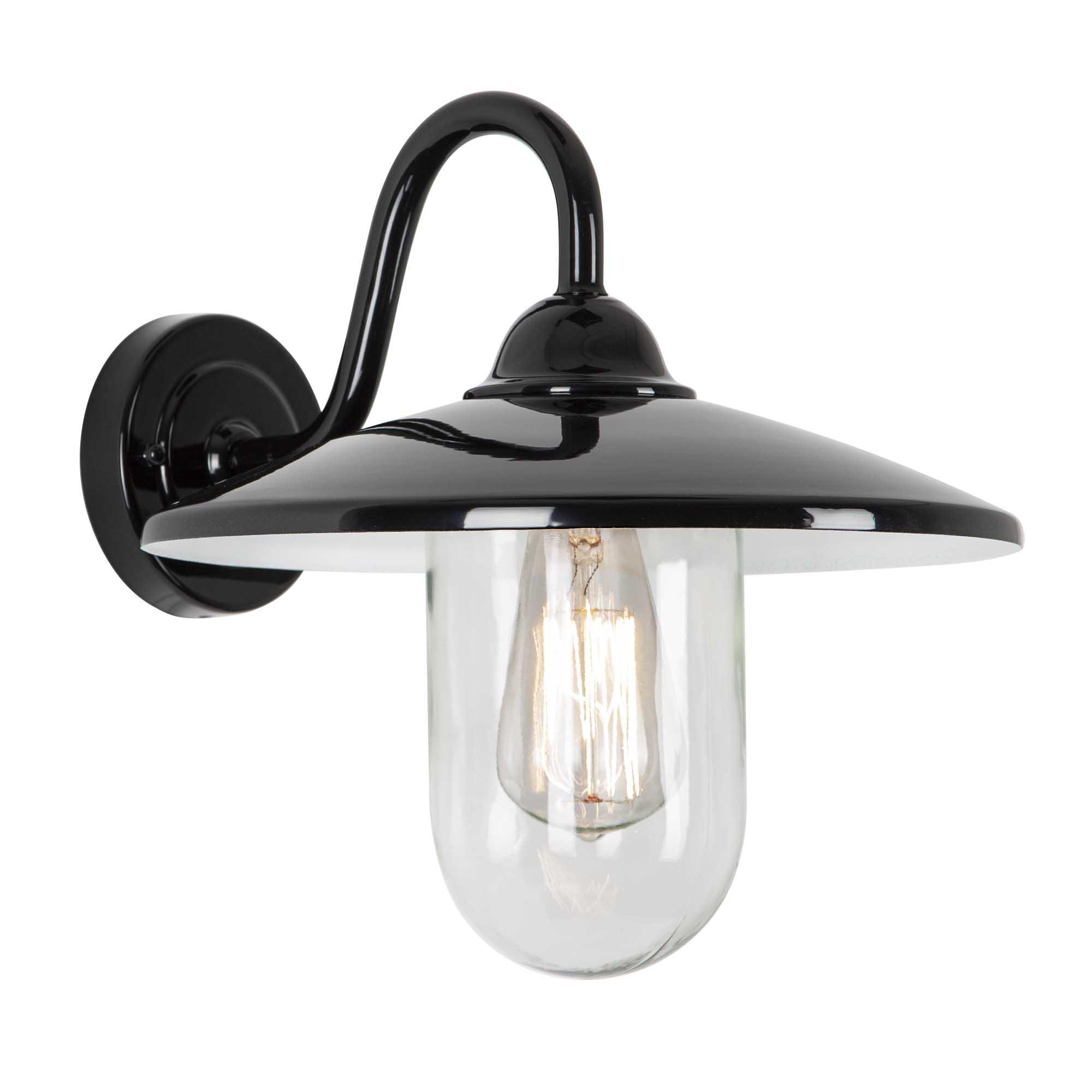 Buitenlamp brig zwart Dag Nacht Schemersensor LED
