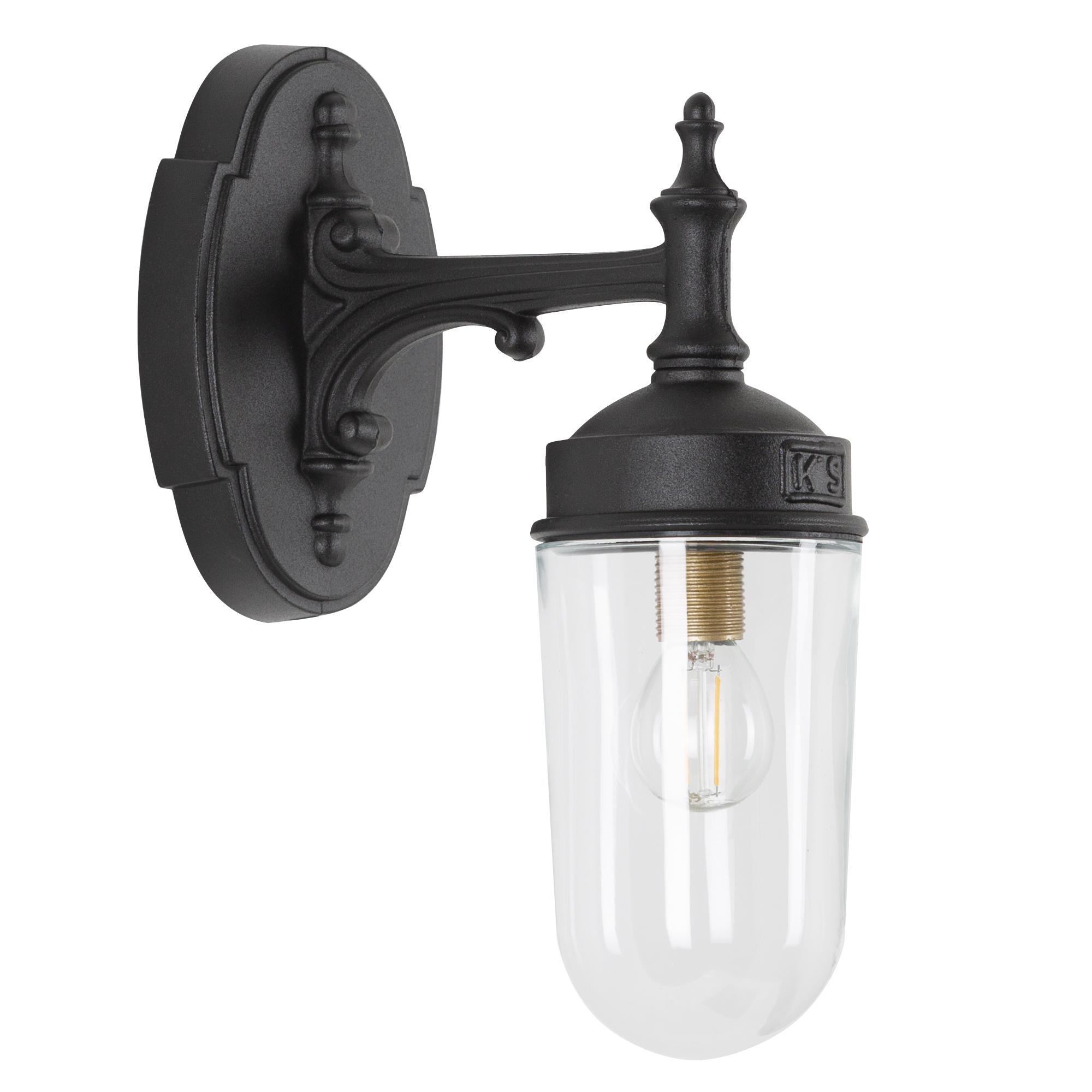 Wandlamp Olbia matzwart