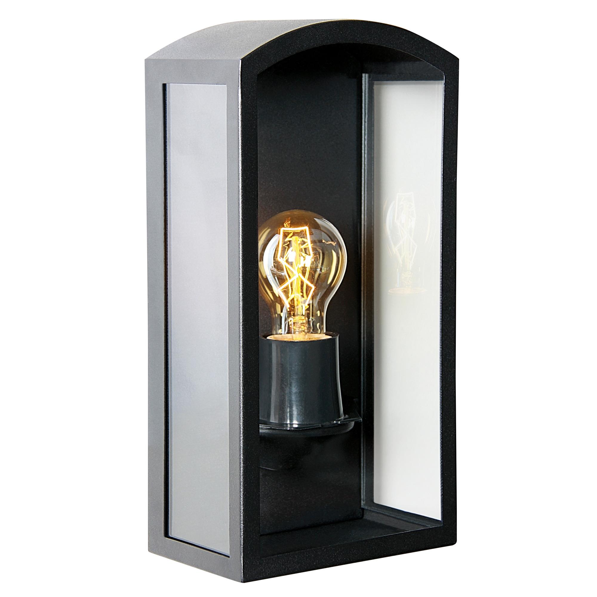 Buitenlamp Como Zwart Wandlamp Plat
