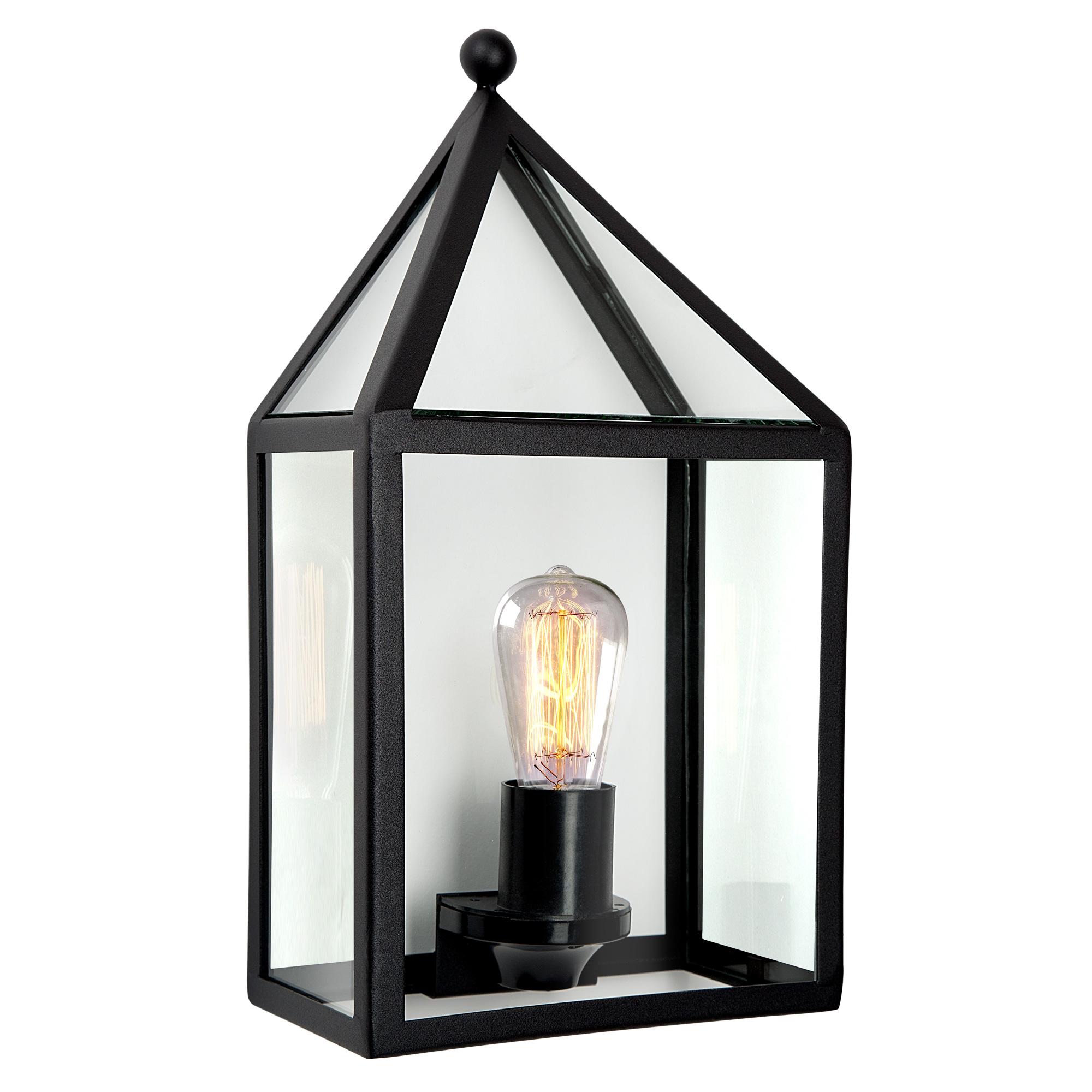 Buitenlamp Laren Zwart Wandlamp Plat