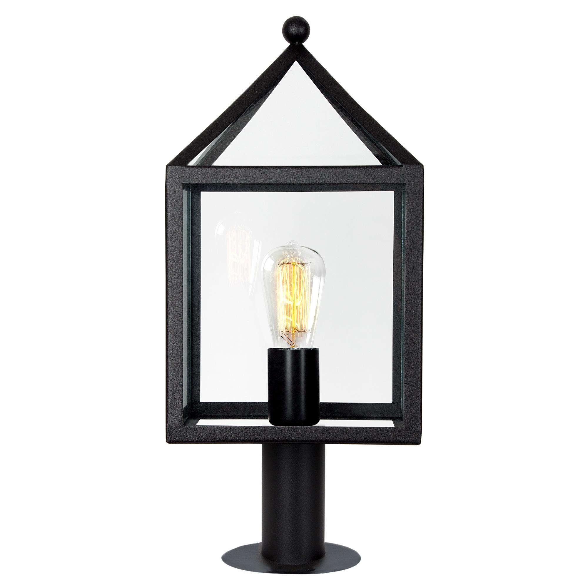 Buitenlamp Staand Zwart Bloemendaal Sokkel