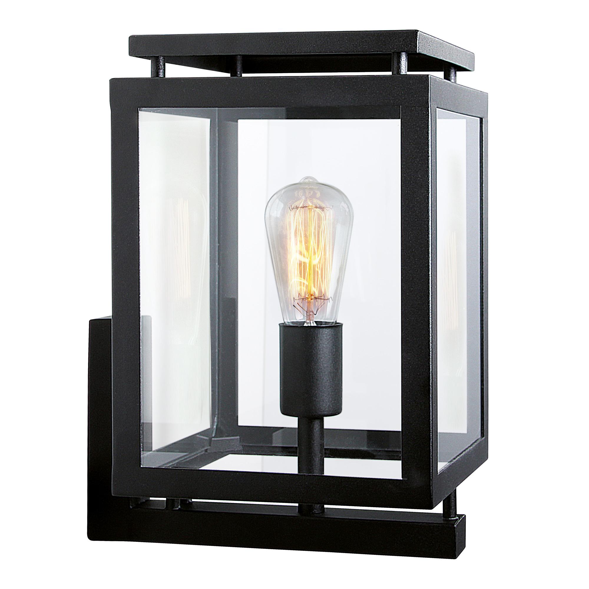 Buitenlamp Vecht Zwart met smart WIFI led