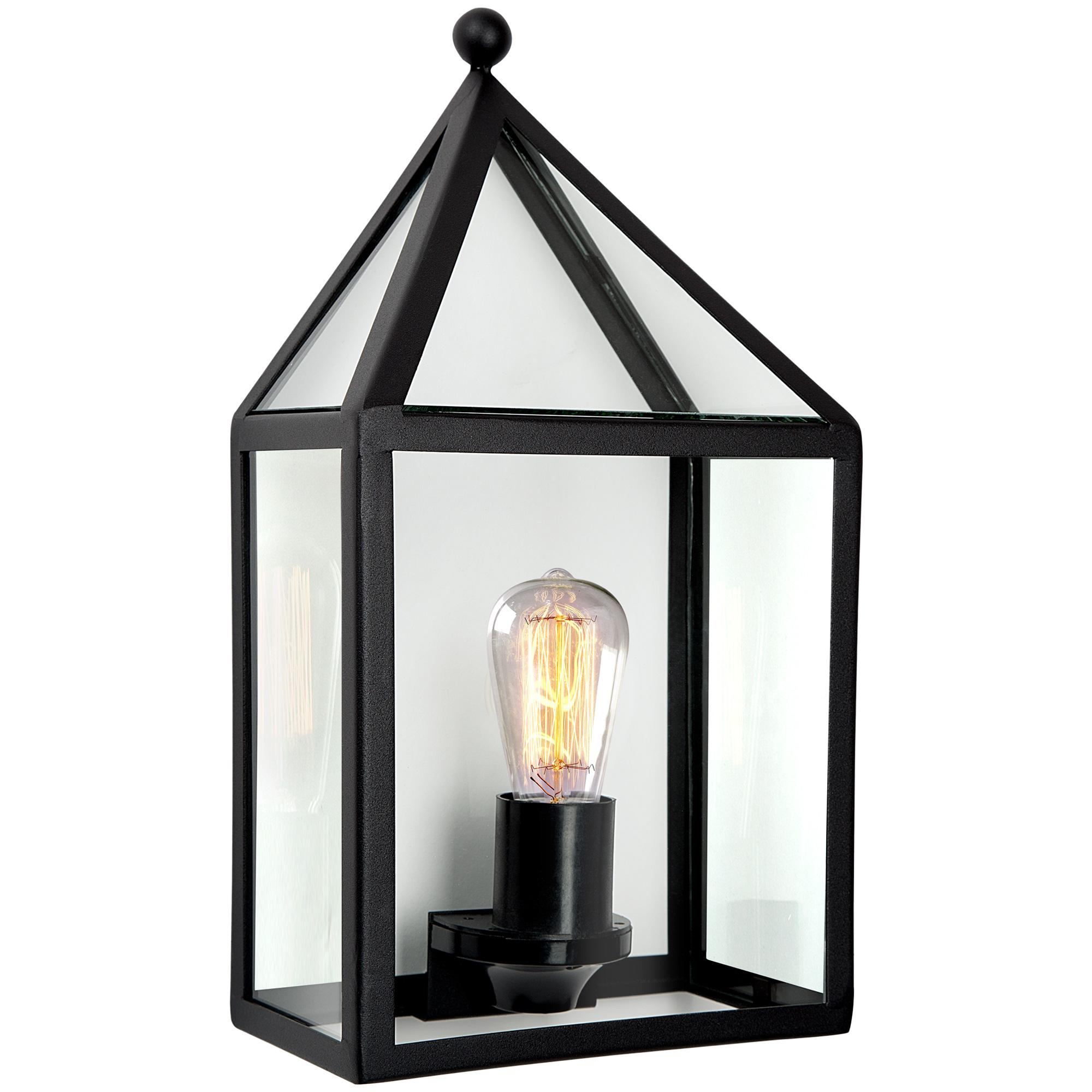 Buitenwandlamp Leusden Wandlamp Plat Zwart