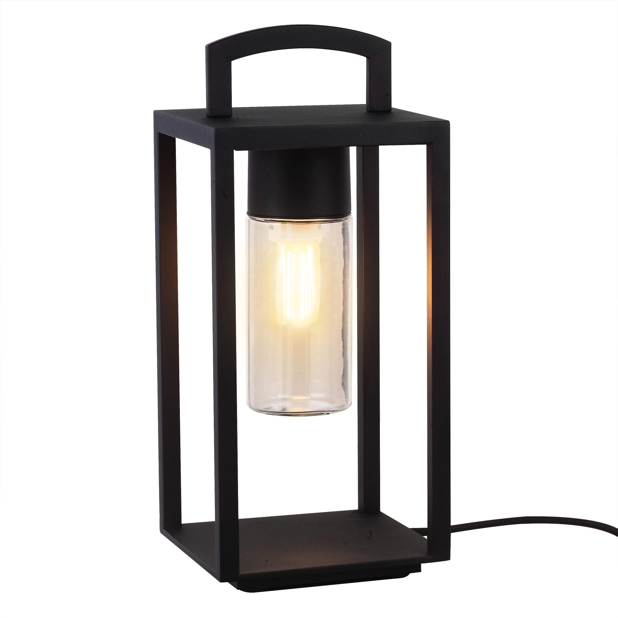 Lounge Zwart Portable Lamp Met Stekker