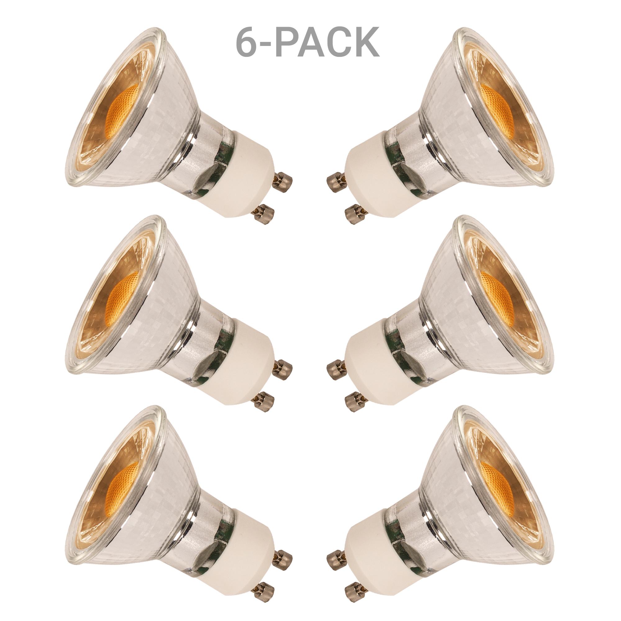 6 pack GU10 LED Dimbaar