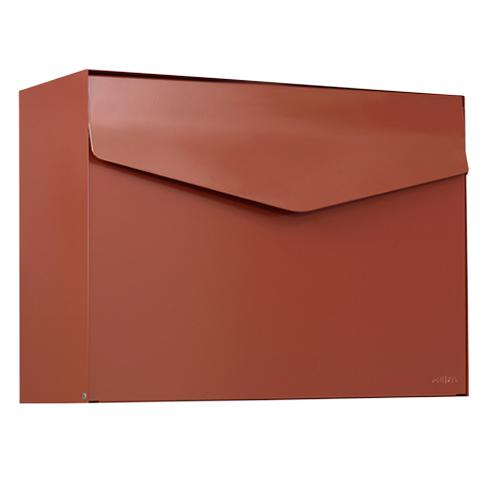 Brievenbus Letter 111 Rood/Bruin